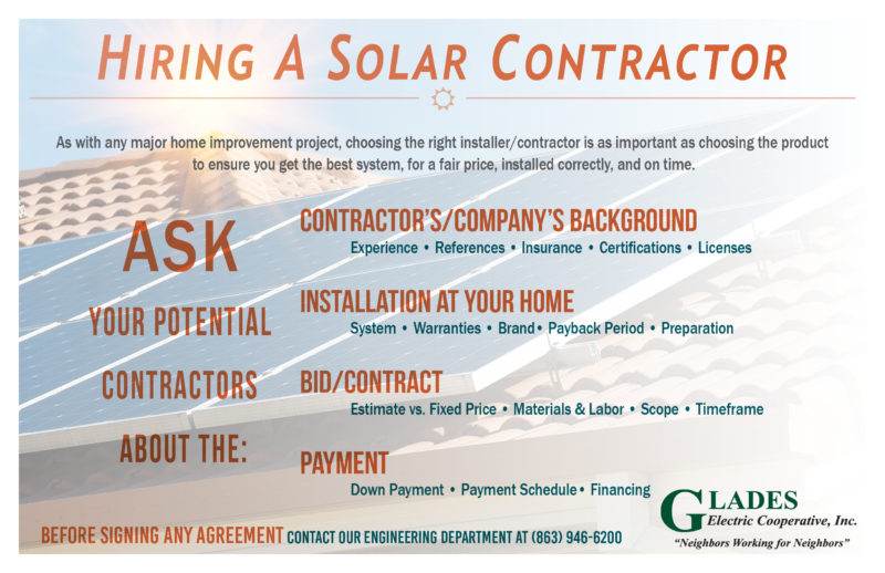 Hiring A Solar Contractor graphic